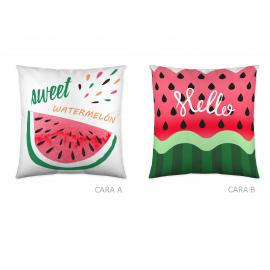 Cojín reversible WATERMELON 50x50 Iceberg