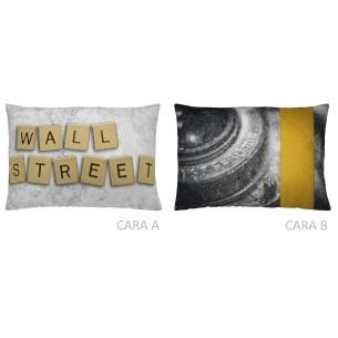 Cojín reversible WALL STREET 30x50 Naturals