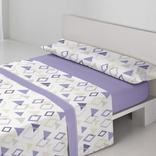 Juego sábanas coralina MILAN Purpura Home