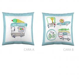 Cojín reversible CARS SURF 50x50 Naturals