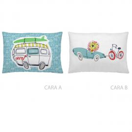 Cojín reversible CARS SURF 30x50 Naturals