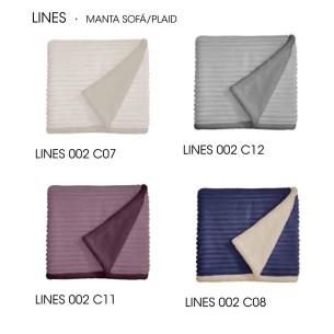 Plaid sofá LINES Manterol