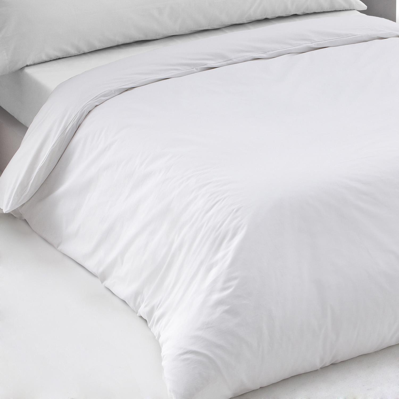 Funda almohada blanca percal Poliéster Algodón de 150 hilos