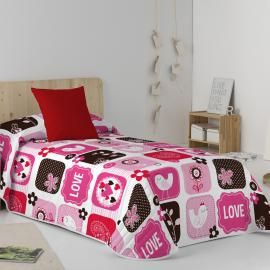 Colcha bouti LOVE&LOVE Purpura Home