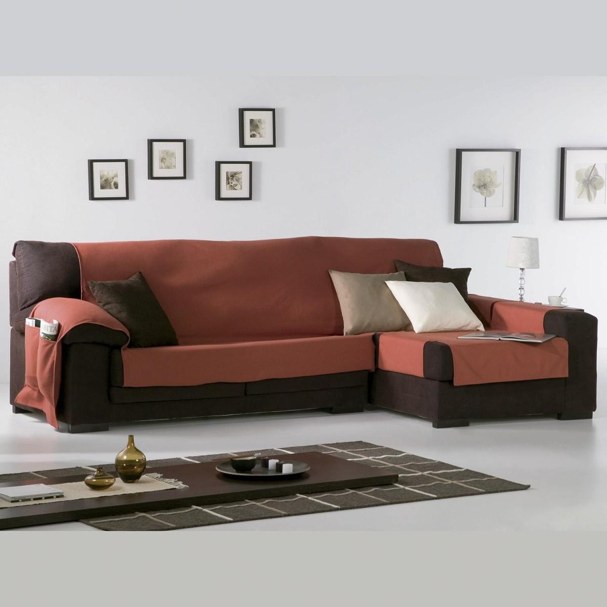 Funda sofá chaise longue LONA LISO Eysa