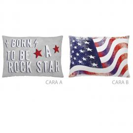 Cojín reversible AMERICAN STAR 30x50 Naturals