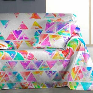 Foulard sofá PIRAMIDE Purpura Home