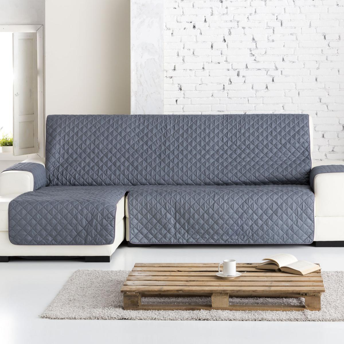 Funda sof chaise longue dual quilt eysa - Fundas de sofa con chaise longue ...
