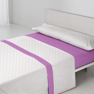 Juego sábanas PUNTOS Purpura Home