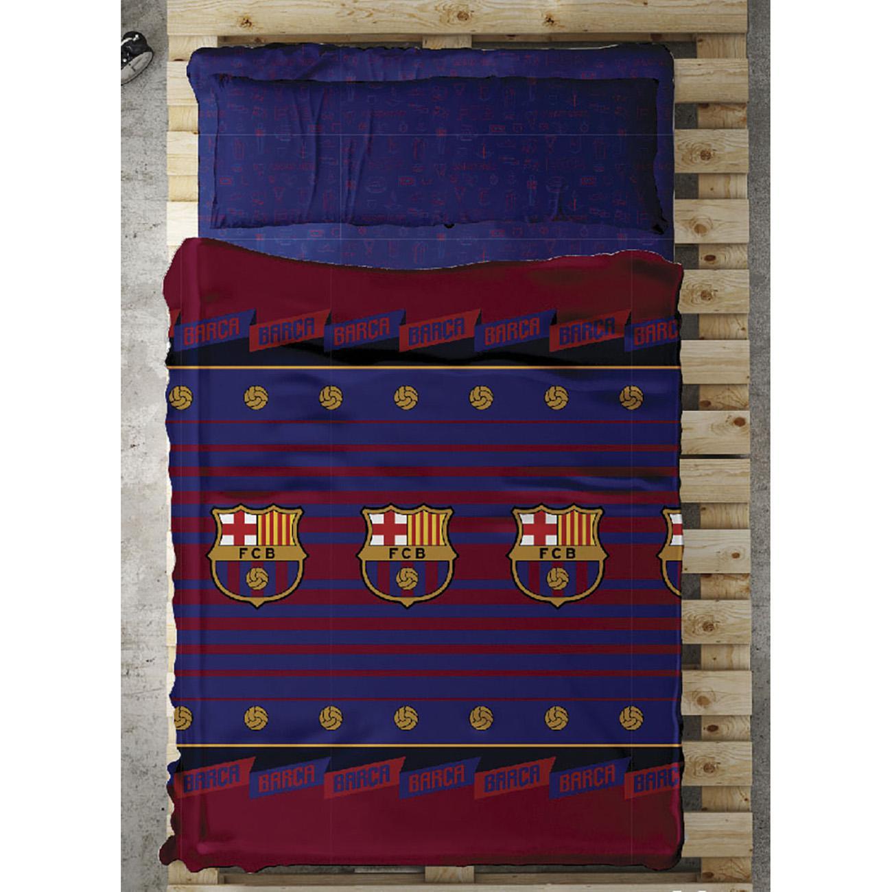 Juego sábanas BALON FC Barcelona ec069adee15