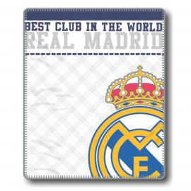 Manta plaid EMBLEMA Real Madrid