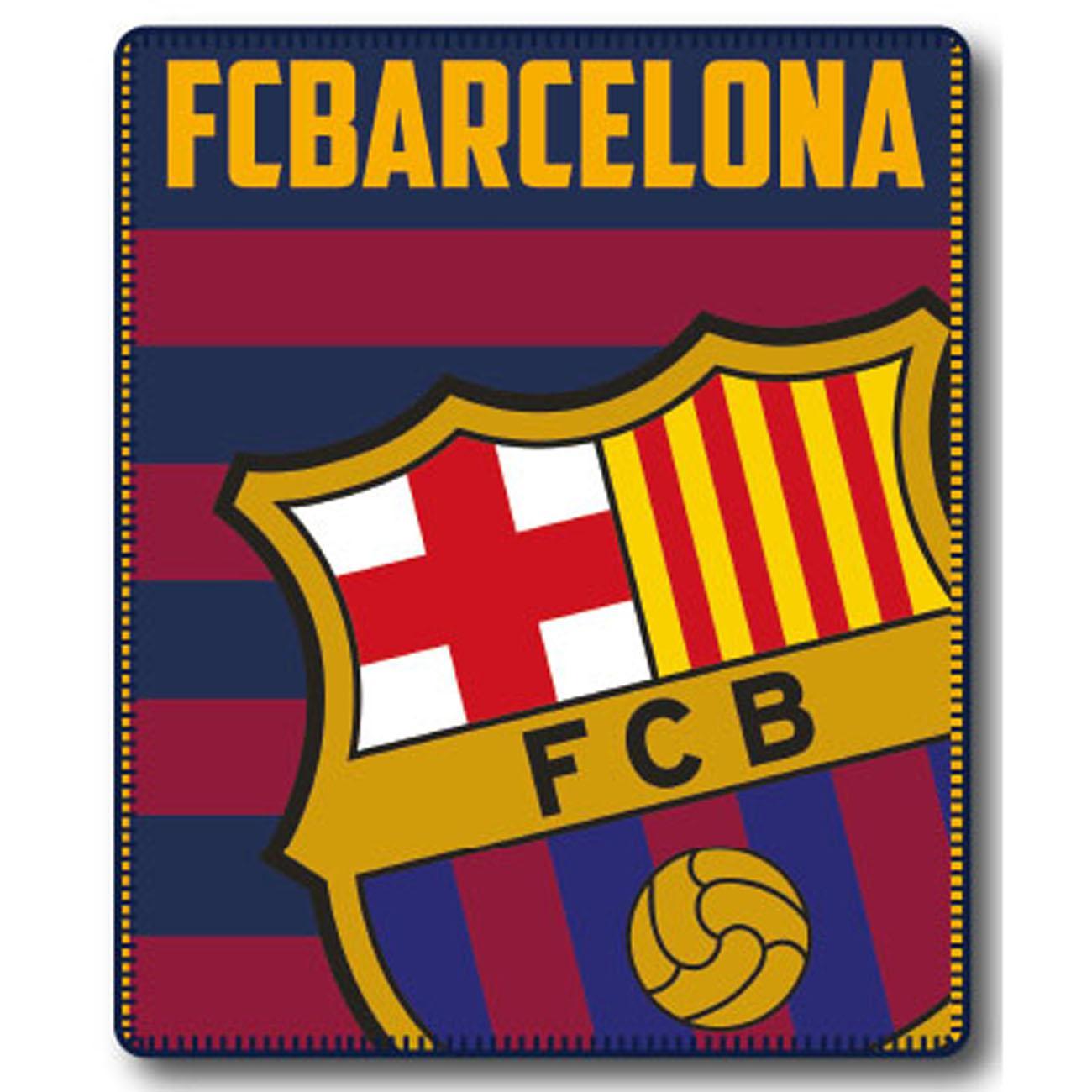 Manta Plaid Escudo Fc Barcelona Complementos